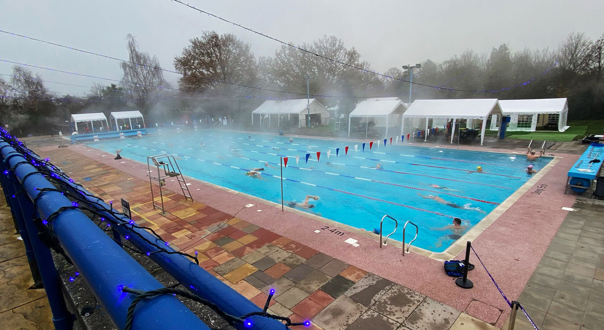 The Pool at Christmas under Covid  safety measures